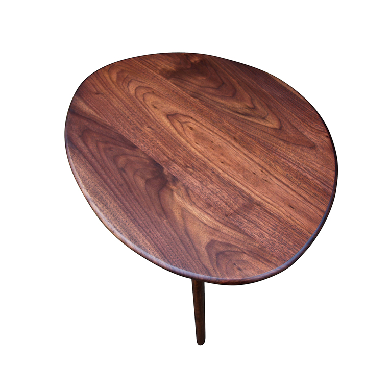 Top view of Walnut sidetable