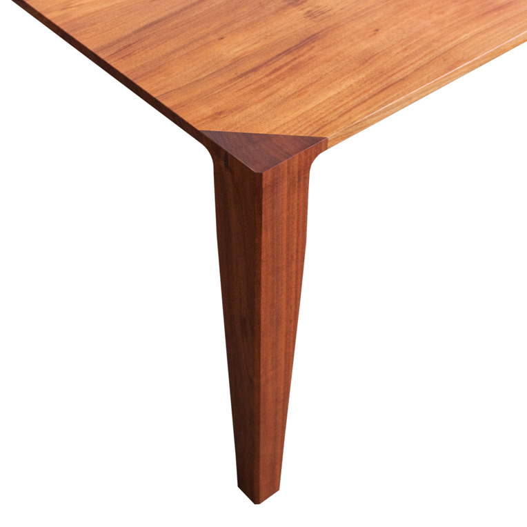 Blackwood dining table leg detail