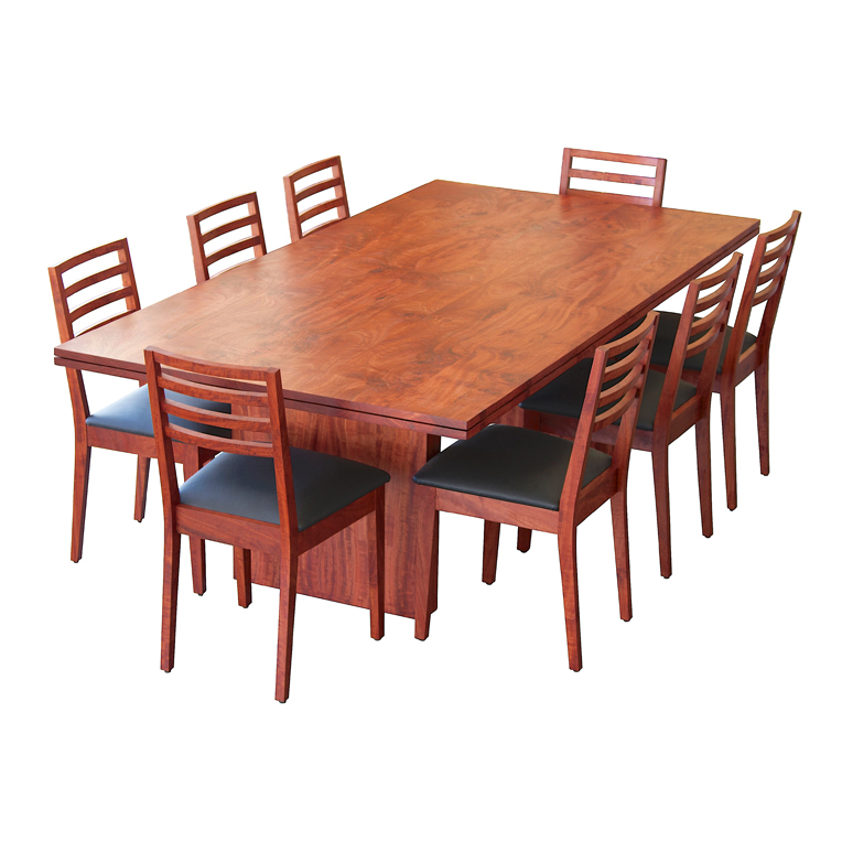 Solid Red Gum dining table and chairs