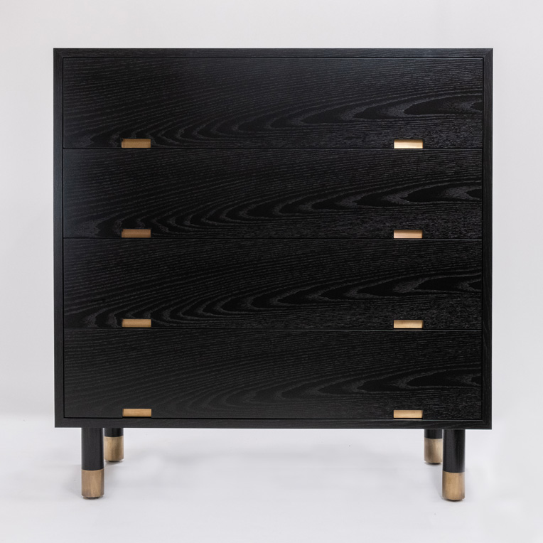 Black Oak chest of drawers