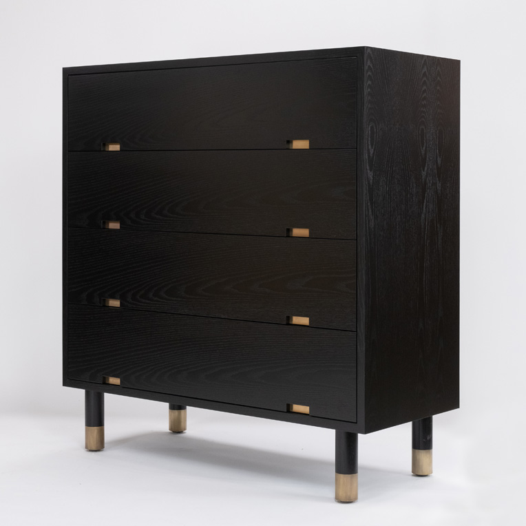 Ebonised Oak chest of drawers