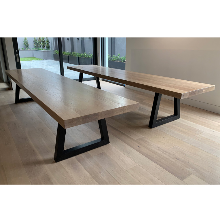 Large American Oak dining Table